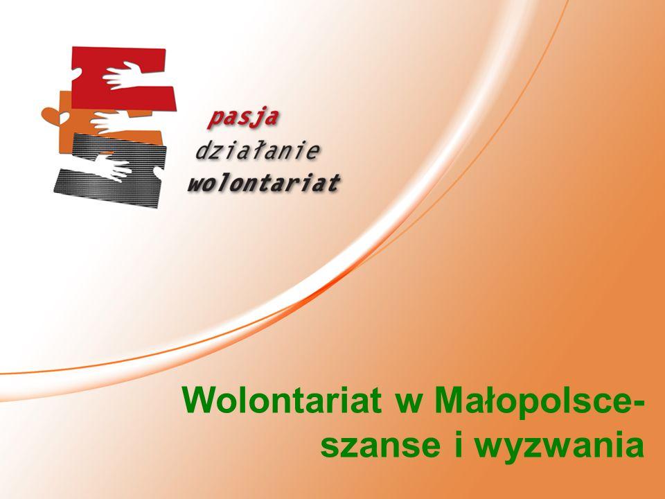 Wolontariat w Małopolsce- szanse i wyzwania