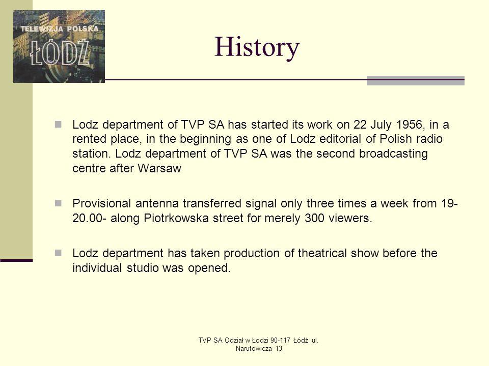 TVP SA Odział w Łodzi 90-117 Łódź ul.