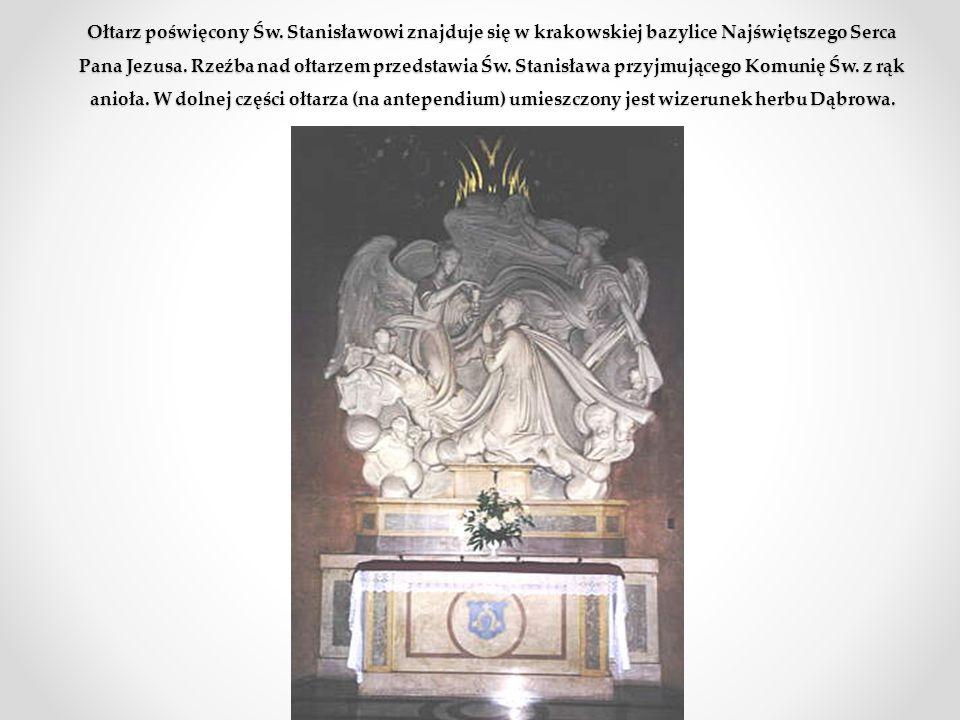 W W edług relacji św. Stanisława - kiedy był bardzo chory, a nie mógł otrzymać Wiatyku, gdyż właściciel domu nie chciał wpuścić katolickiego kapłana,