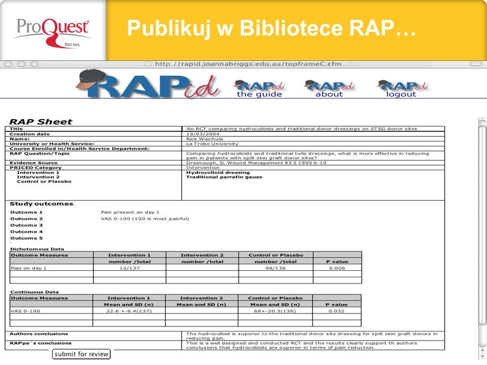 Publikuj w Bibliotece RAP…