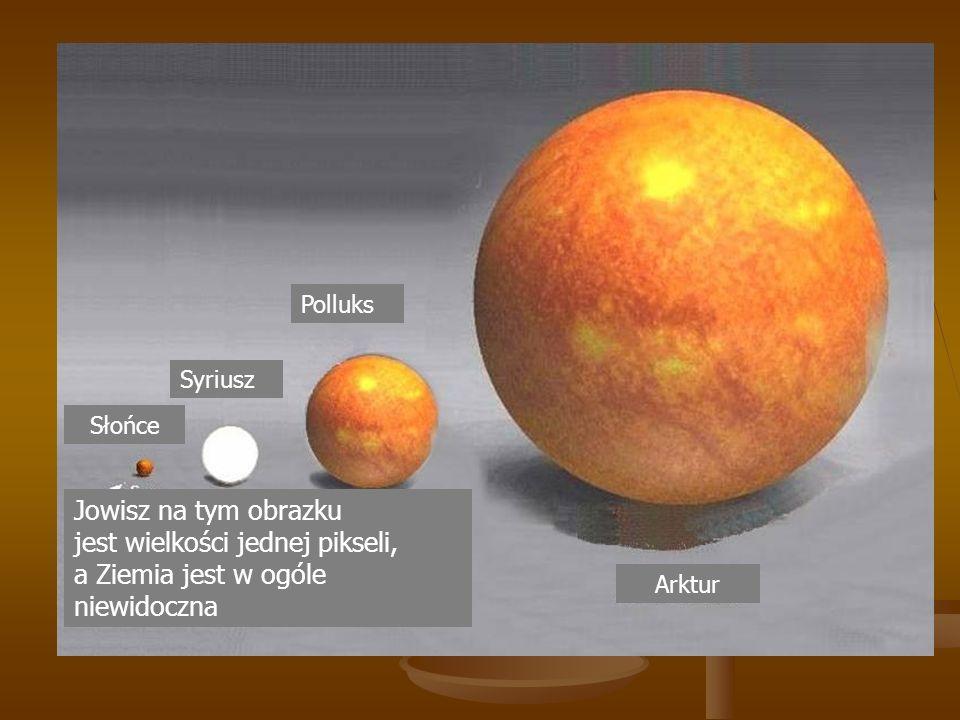 Arktur Polluks Syriusz Słońce Jowisz na tym obrazku jest wielkości jednej pikseli, a Ziemia jest w ogóle niewidoczna
