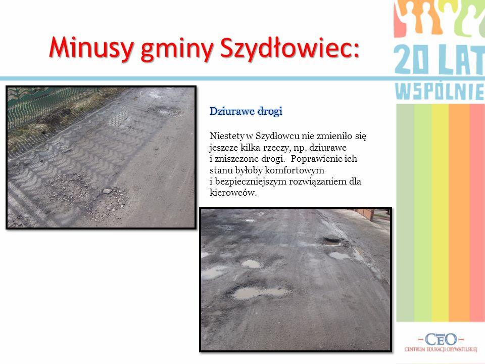 Minusy gminy Szydłowiec: