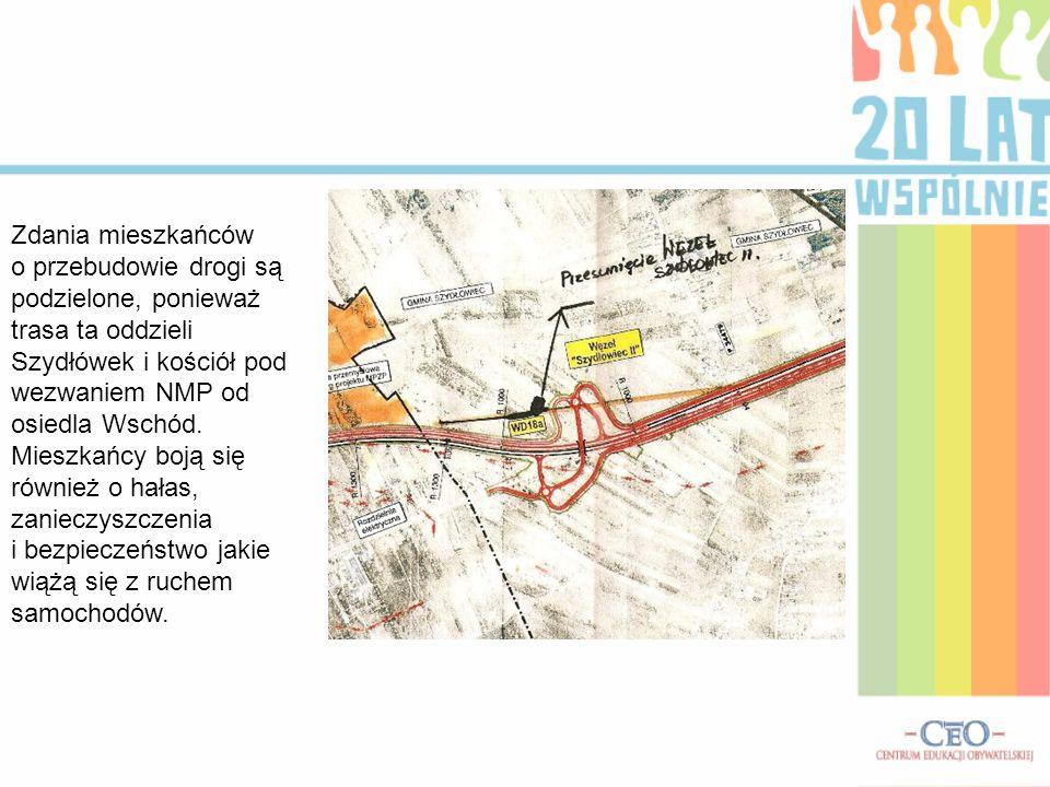 Zdania mieszkańców o przebudowie drogi są podzielone, ponieważ trasa ta oddzieli Szydłówek i kościół pod wezwaniem NMP od osiedla Wschód. Mieszkańcy b