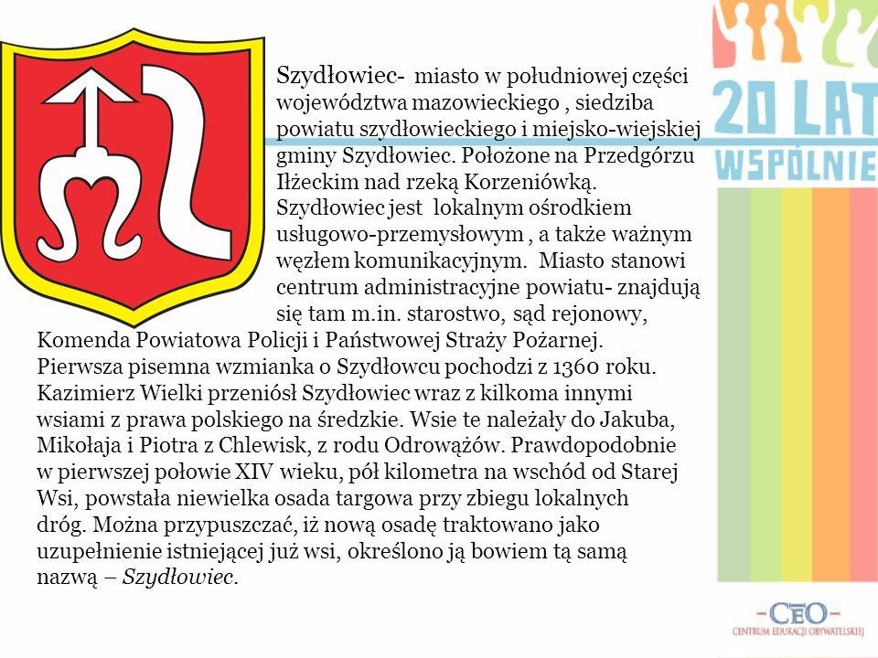 Szydłowiec - miasto w południowej części województwa mazowieckiego, siedziba powiatu szydłowieckiego i miejsko-wiejskiej gminy Szydłowiec. Położone na