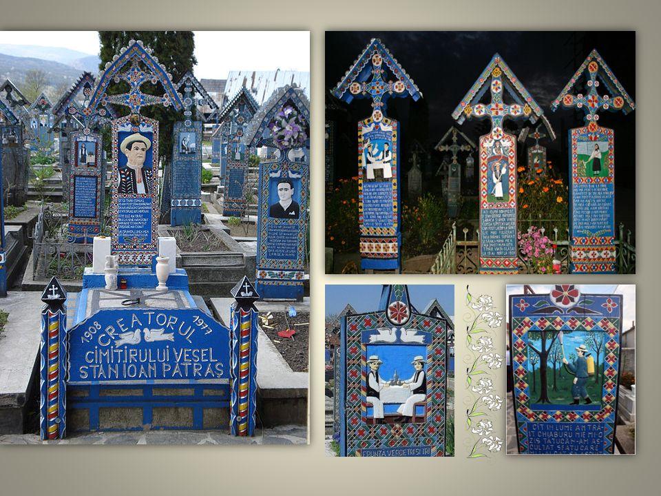 Wesoły Cmentarz: Cmentarz zlokalizowany wokół cerkwi w rumuńskiej miejscowości Săpânţa, który został wpisany na listę światowego dziedzictwa UNESCO. O