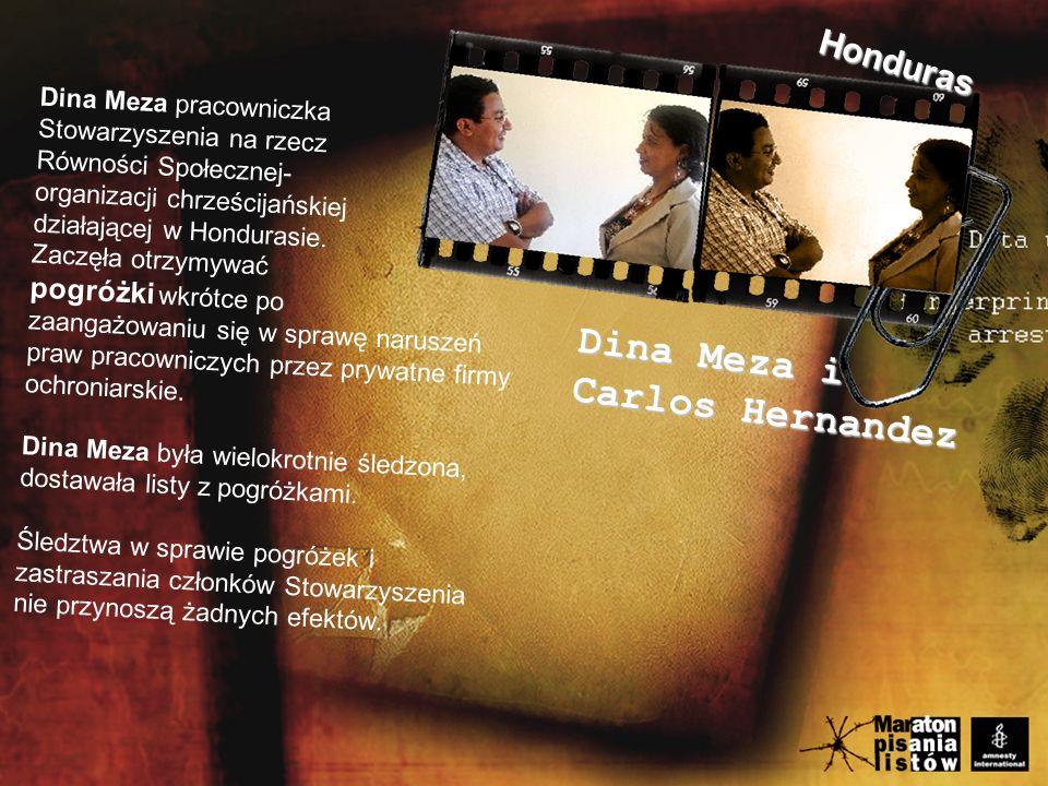 Dina Meza pracowniczka Stowarzyszenia na rzecz Równości Społecznej- organizacji chrześcijańskiej działającej w Hondurasie.