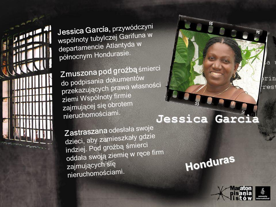 Jessica García, przywódczyni wspólnoty tubylczej Garifuna w departamencie Atlantyda w północnym Hondurasie.