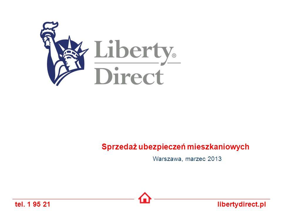 tel. 1 95 21libertydirect.pl Sprzedaż ubezpieczeń mieszkaniowych Warszawa, marzec 2013