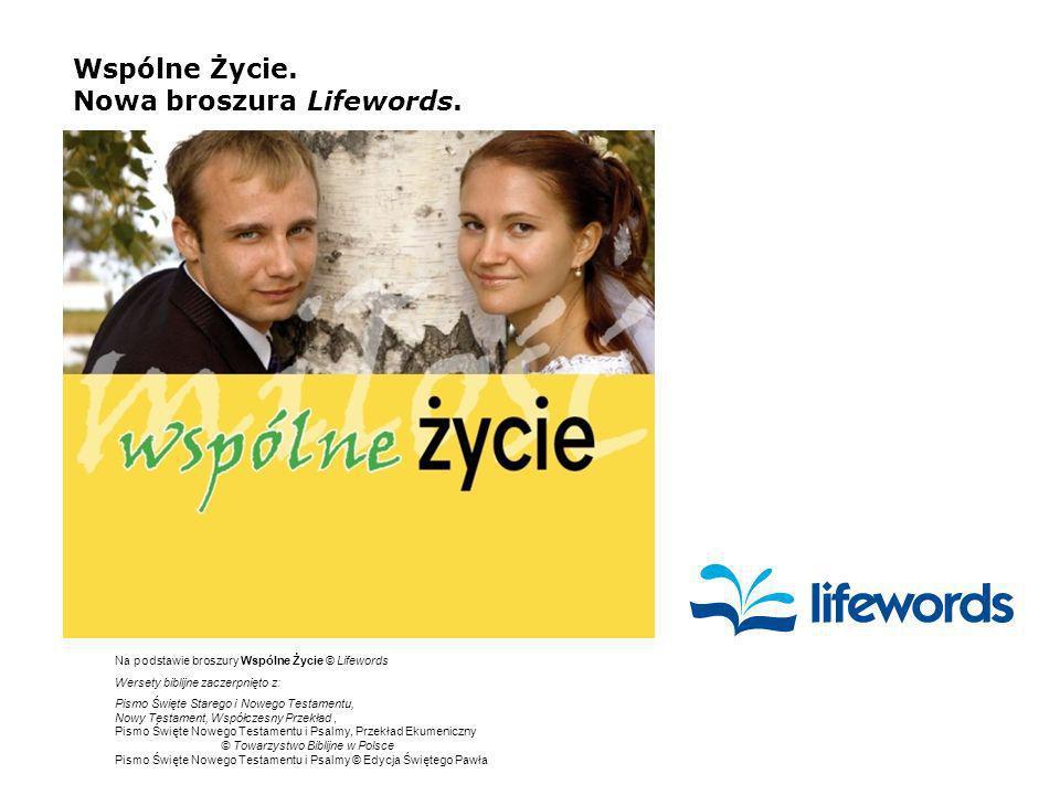 Wspólne Życie.Nowa broszura Lifewords.