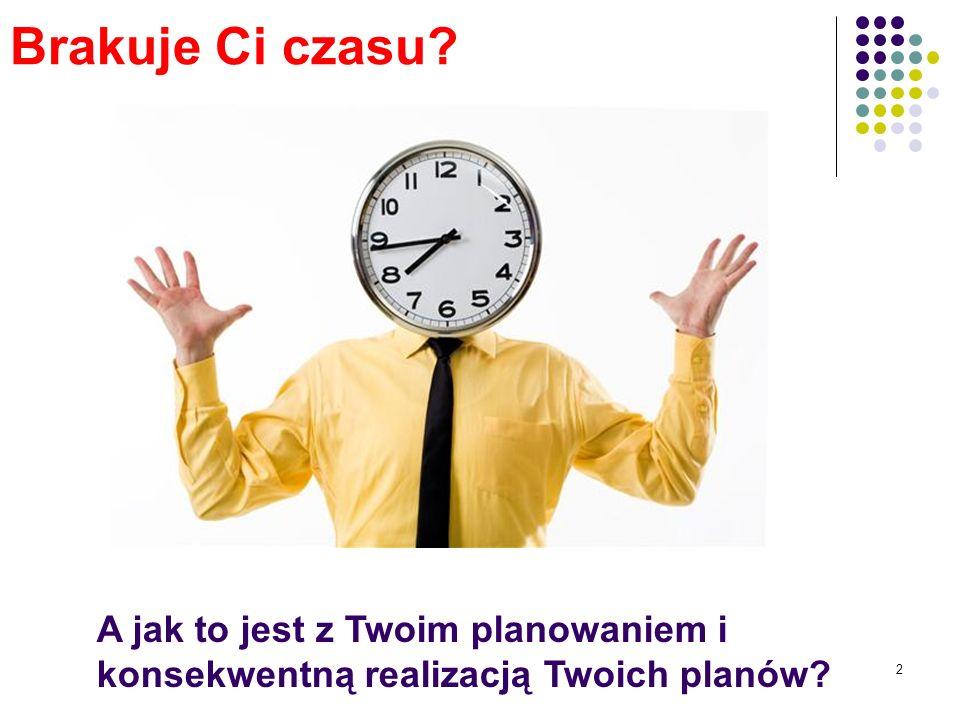 2 Brakuje Ci czasu A jak to jest z Twoim planowaniem i konsekwentną realizacją Twoich planów