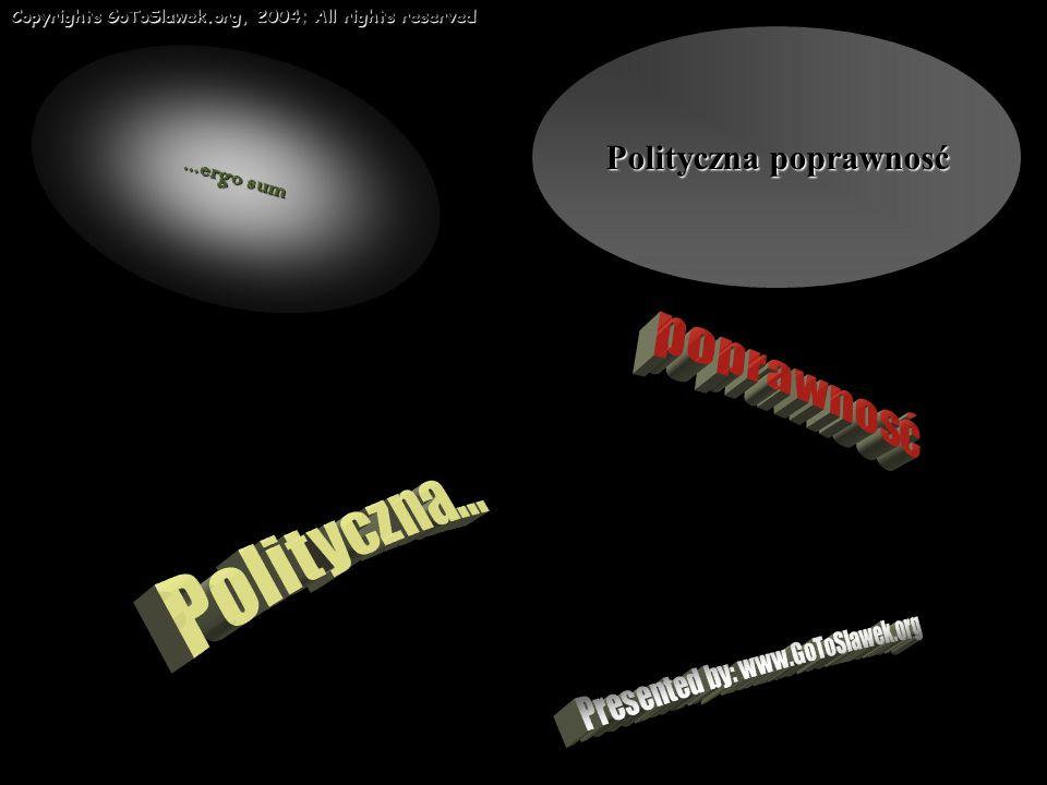 Copyrights GoToSlawek.org, 2004; All rights reserved...ergo sum Polityczna poprawnosć