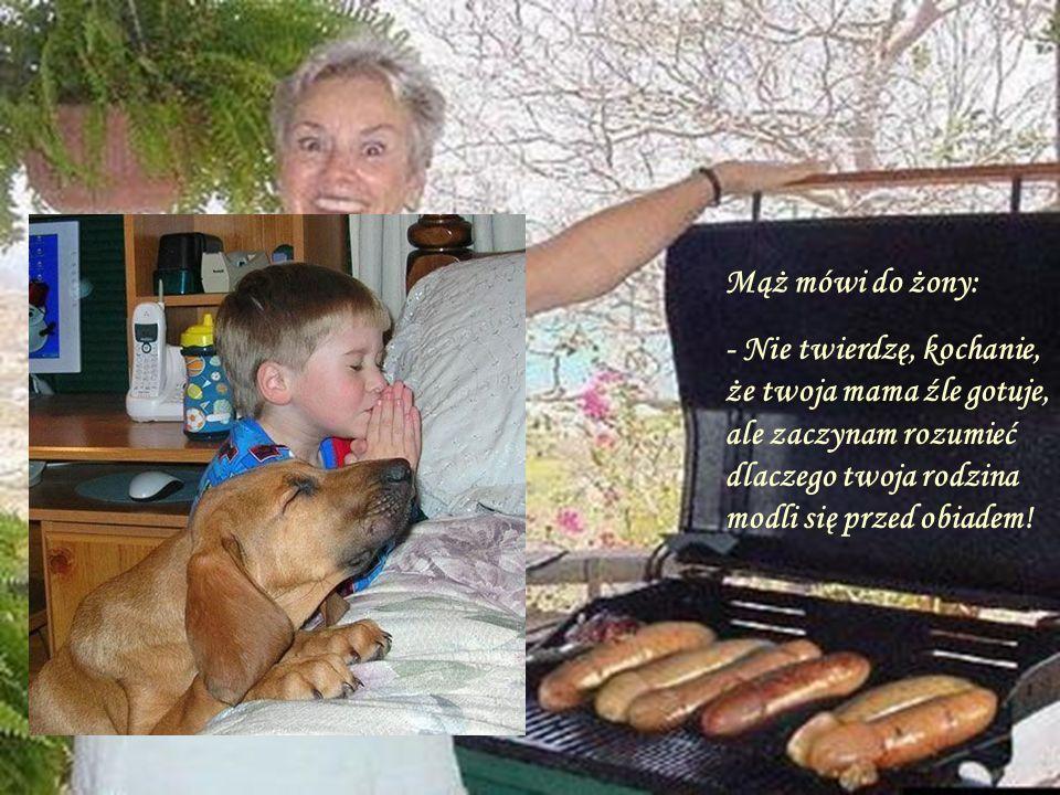Facet z pięknym psem przychodzi do weterynarza i mówi: proszę obciąć psu ogon. - Weterynarz na to, szkoda,taki piękny pies - Właściciel: proszę nie dy