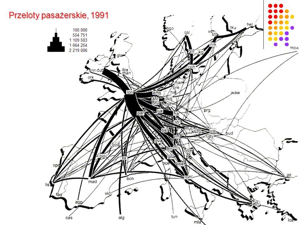 Przeloty pasażerskie, 1991