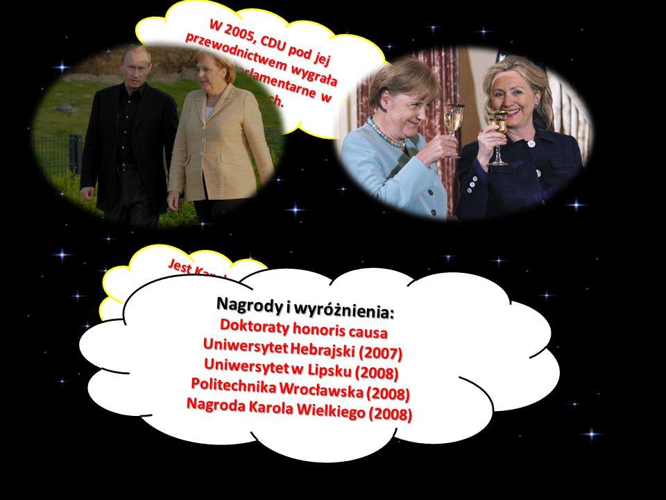 W 2005, CDU pod jej przewodnictwem wygrała wybory parlamentarne w Niemczech.