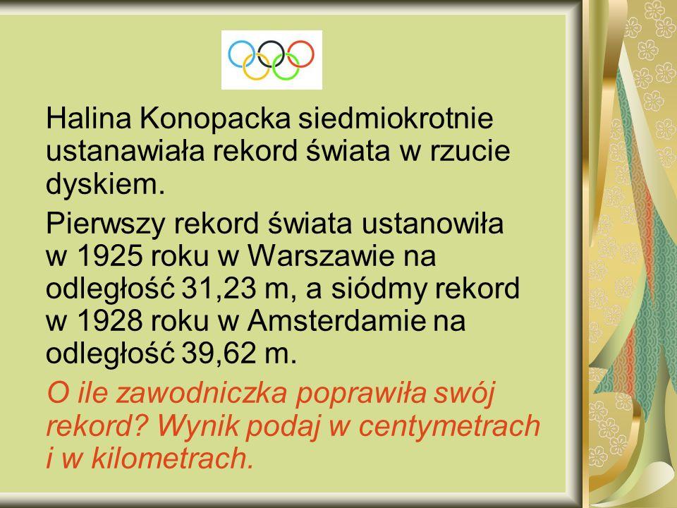 Halina Konopacka siedmiokrotnie ustanawiała rekord świata w rzucie dyskiem.