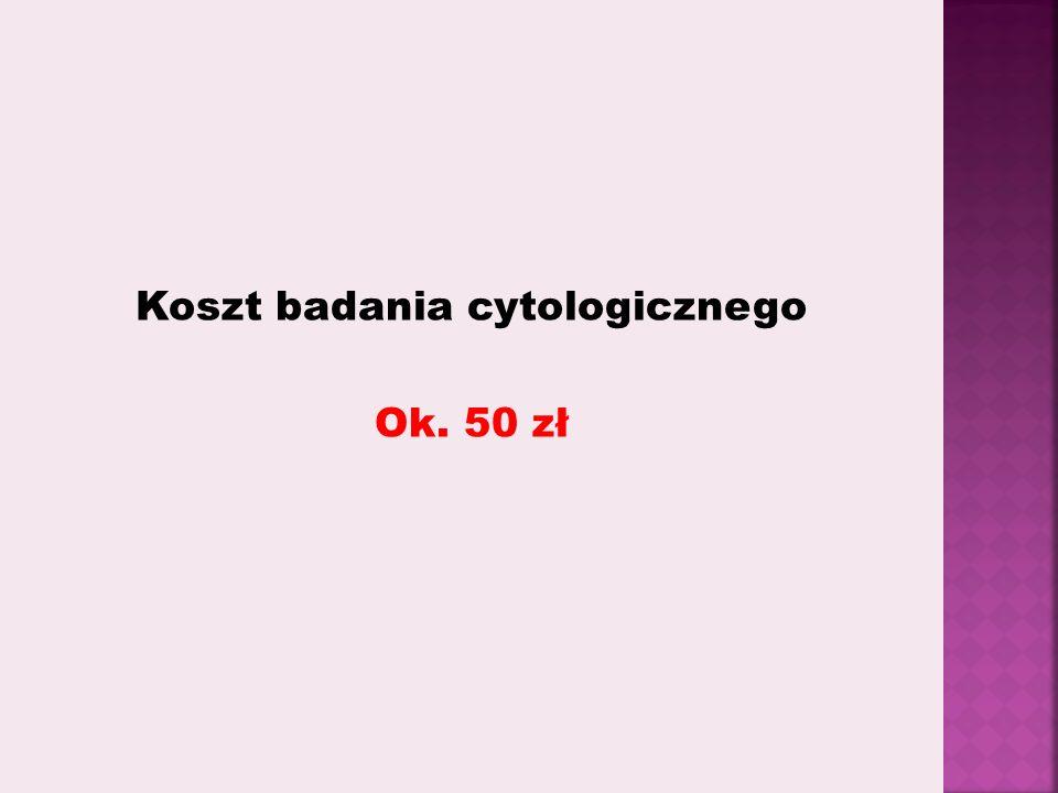 Koszt badania cytologicznego Ok. 50 zł