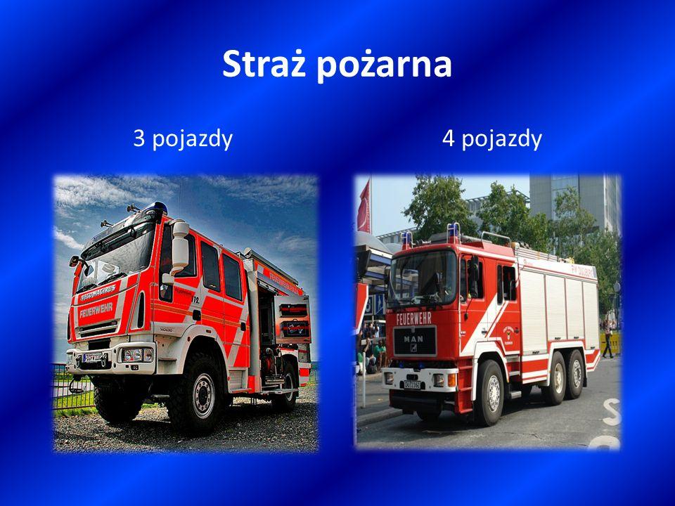 Straż pożarna 3 pojazdy4 pojazdy