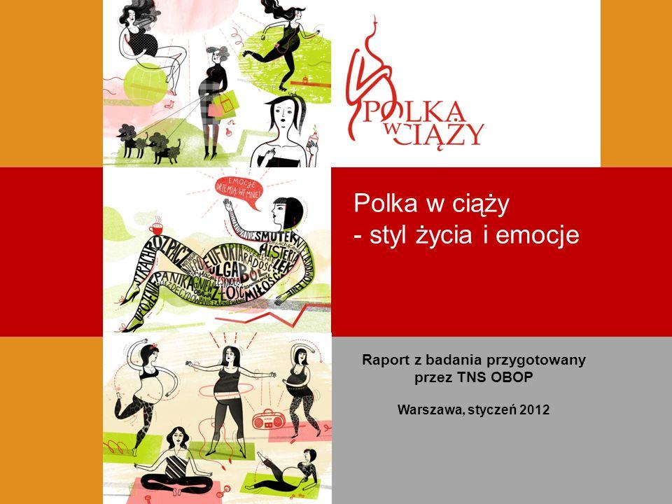 Polka w ciąży - styl życia i emocje Raport z badania przygotowany przez TNS OBOP Warszawa, styczeń 2012