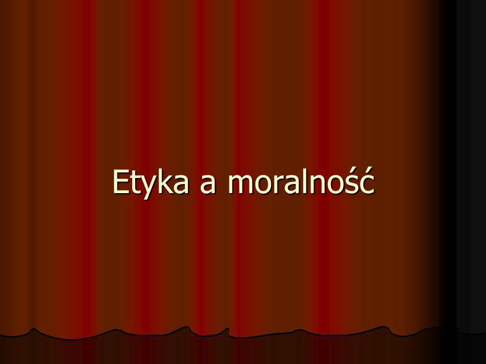 Etyka a moralność
