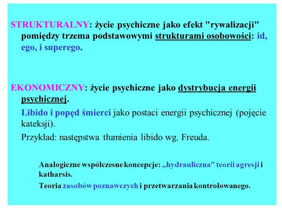 ZAŁOŻENIA METODOLOGICZNE PSYCHOANALIZY: zasada nad-determinizmu zasada historycznego (rozwojowego) podejścia do osobowości i jej zaburzeń.