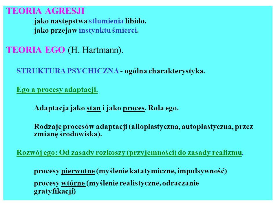 Fazy rozwoju struktury psychicznej.