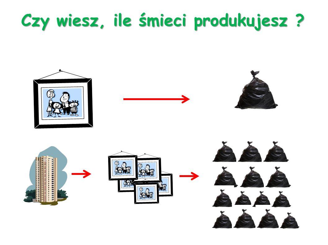 Czy wiesz, ile śmieci produkujesz ?