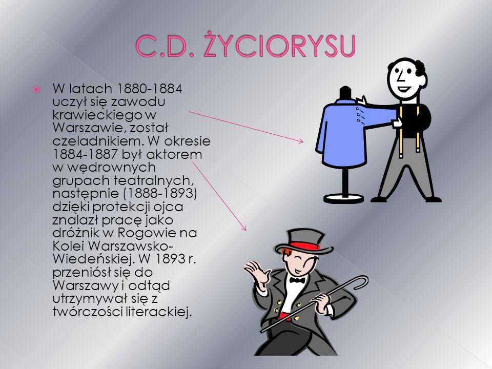 W latach 1880-1884 uczył się zawodu krawieckiego w Warszawie, został czeladnikiem.