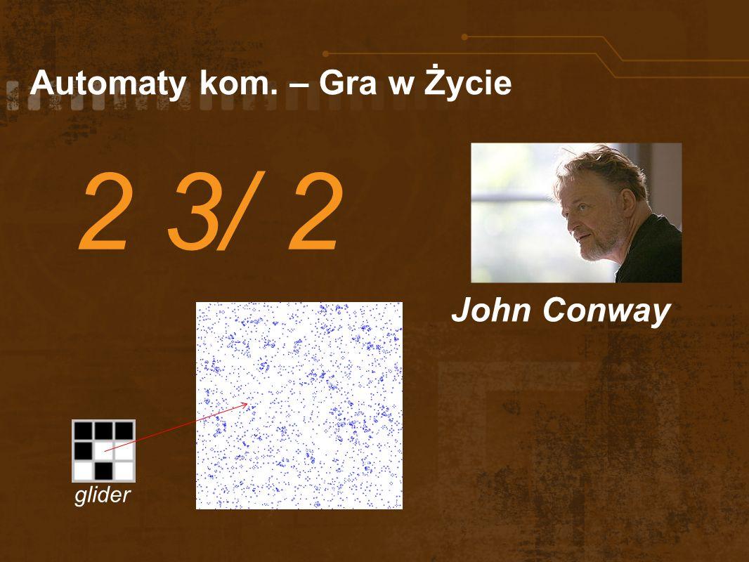 Automaty kom. – Gra w Życie 2 3/ 2 John Conway glider