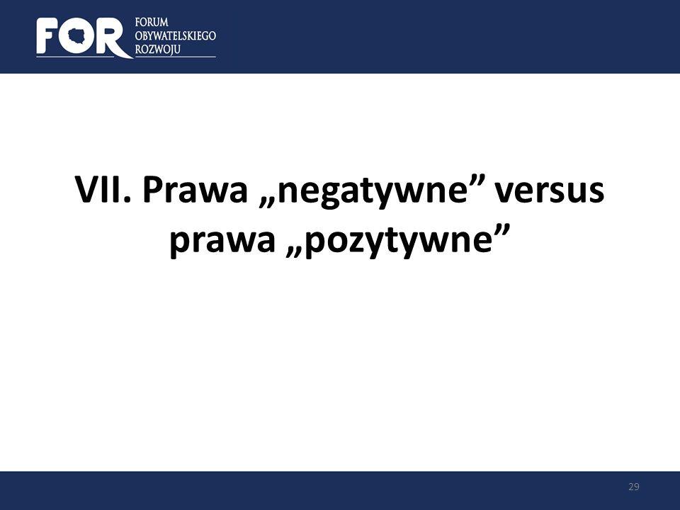 VII. Prawa negatywne versus prawa pozytywne 29