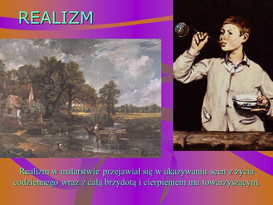 Malarstwo przesycone metafizyką służyło wywołaniu nastroju nostalgii, zadumy. Pojawiły się nowe tematy takie jak historyczne wydarzenia narodów. ROMAN
