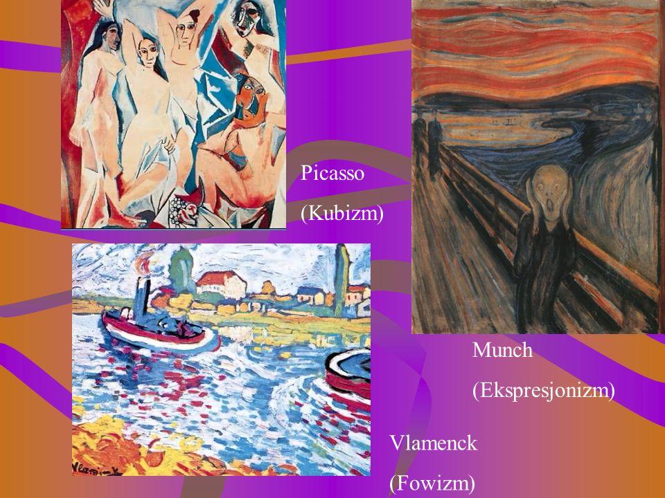 KUBIZMKUBIZM, FOWIZM, EKSPRESJONIZM Sztandarowym punktem stały się przeżycia wewnętrzne artysty, świat wykreowany w wyobraźni, całkowicie irracjonalny