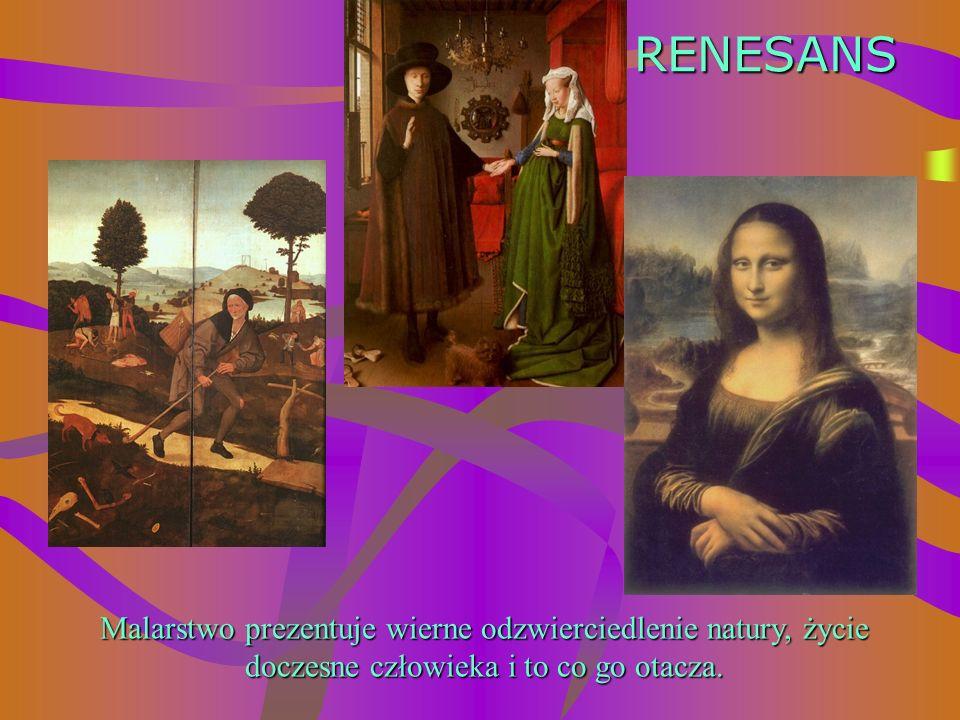 ŚREDNIOWIECZE Malarstwo służyło przekazaniu odczuć religijnych. Malarz zgodnie z duchem epoki i zapotrzebowaniem na tematykę religijną malował postaci