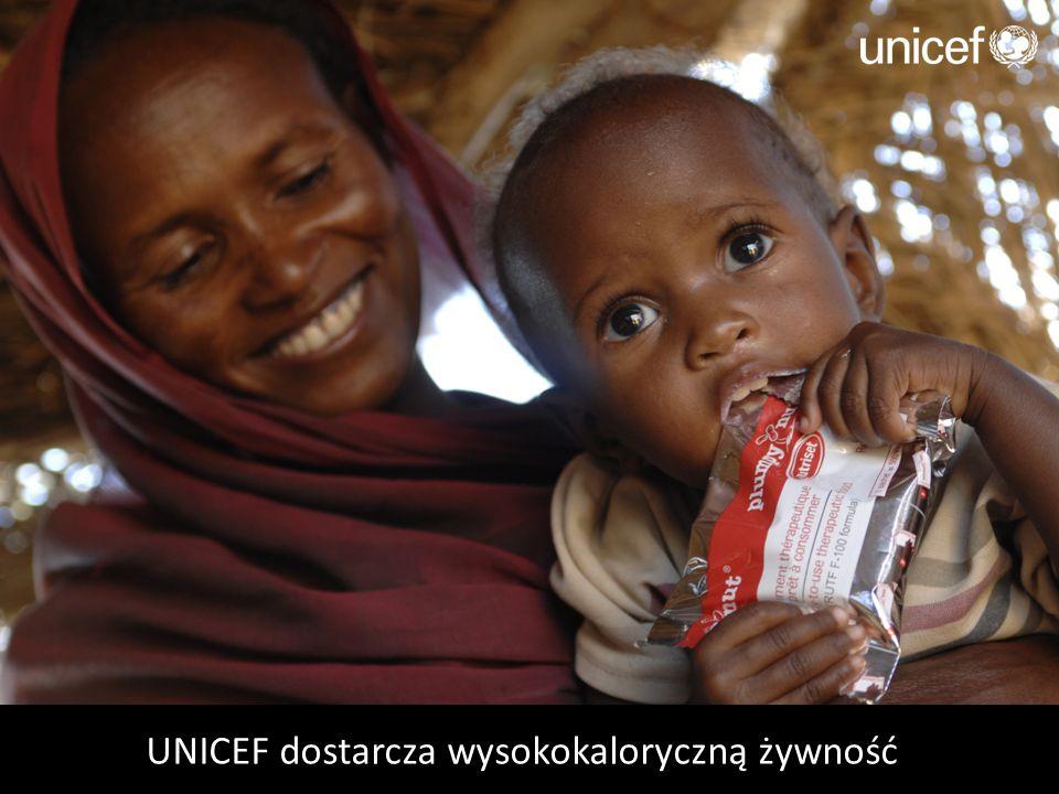 UNICEF dostarcza wysokokaloryczną żywność