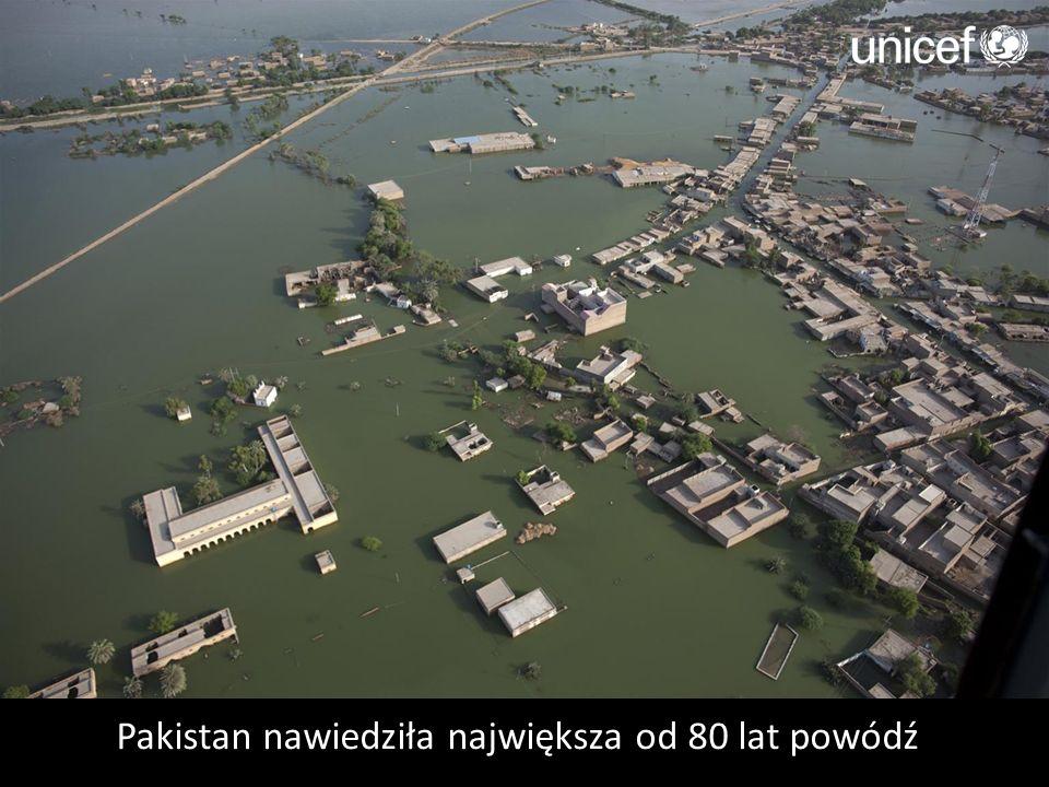 Pakistan nawiedziła największa od 80 lat powódź