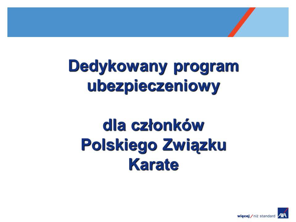Dedykowany program ubezpieczeniowy dla członków Polskiego Związku Karate