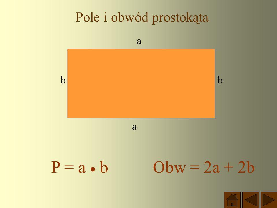 PAMIĘTAJ ! Każdy prostokąt jest równoległobokiem i jest trapezem, ma więc wszystkie własności tych czworokątów.