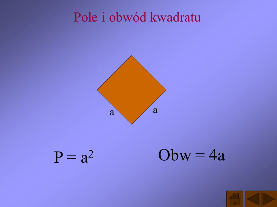 PAMIĘTAJ! Każdy kwadrat jest prostokątem, rombem, równoległobokiem i trapezem ma więc własności wszystkich tych czworokątów.