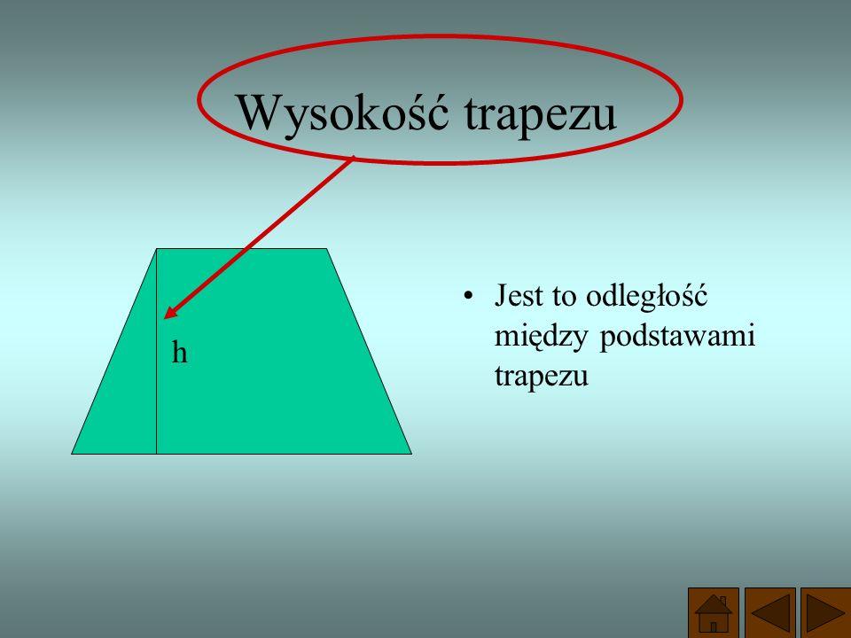 Trapez, którego ramiona są równe nazywamy równoramiennym. c = d trapez równoramienny Własności trapezu równoramiennego: kąty przy podstawach mają równ