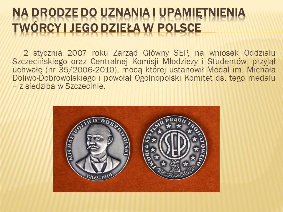 2 stycznia 2007 roku Zarząd Główny SEP, na wniosek Oddziału Szczecińskiego oraz Centralnej Komisji Młodzieży i Studentów, przyjął uchwałę (nr 35/2006-