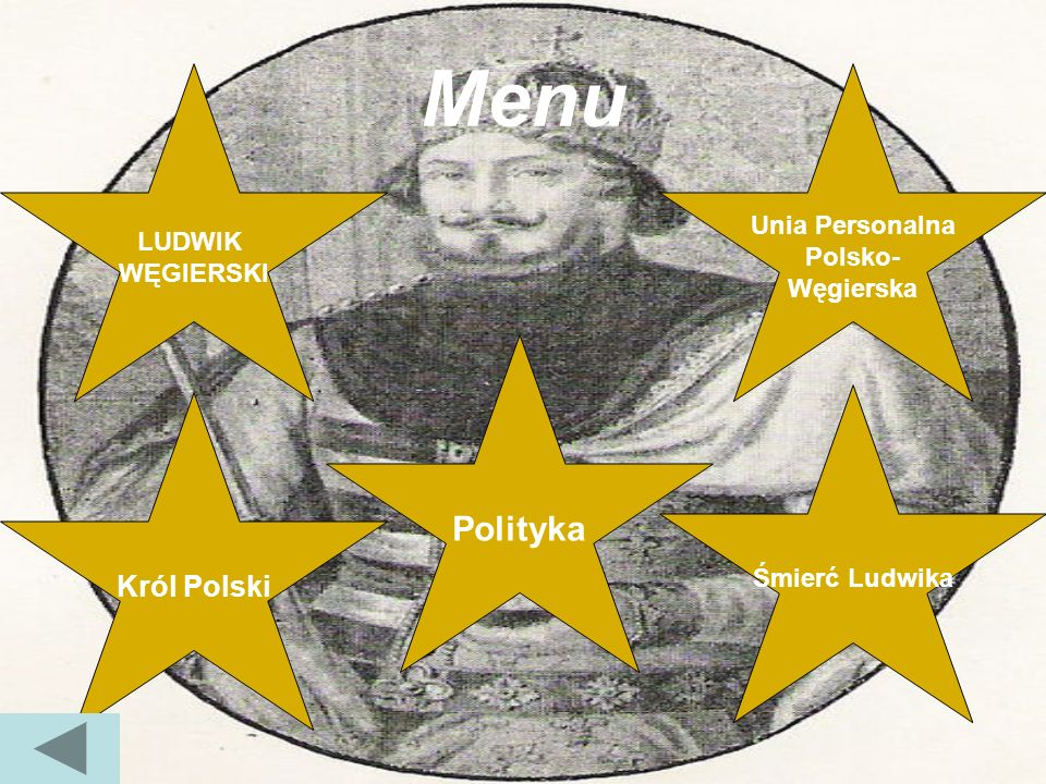 Menu LUDWIK WĘGIERSKI Unia Personalna Polsko- Węgierska Polityka Król Polski Śmierć Ludwika