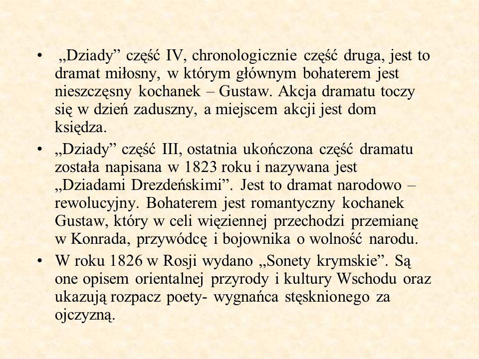 W roku 1828 w Rosji wydano powieść poetycką Konrad Wallenrod.