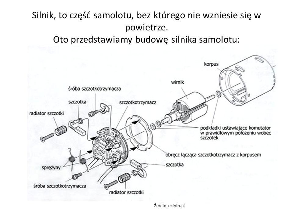 Silnik, to część samolotu, bez którego nie wzniesie się w powietrze.
