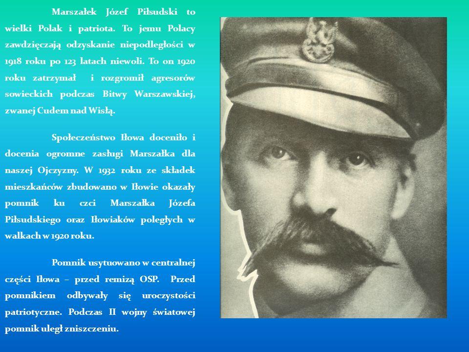 Marszałek Józef Piłsudski to wielki Polak i patriota. To jemu Polacy zawdzięczają odzyskanie niepodległości w 1918 roku po 123 latach niewoli. To on 1
