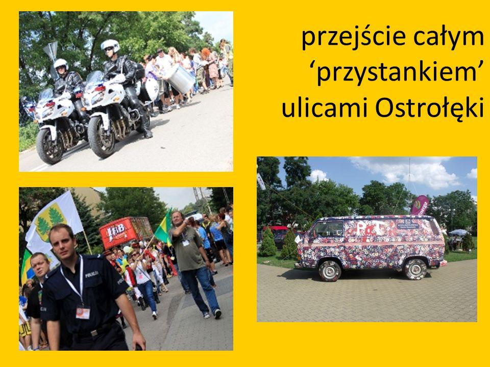 przejście całym przystankiem ulicami Ostrołęki