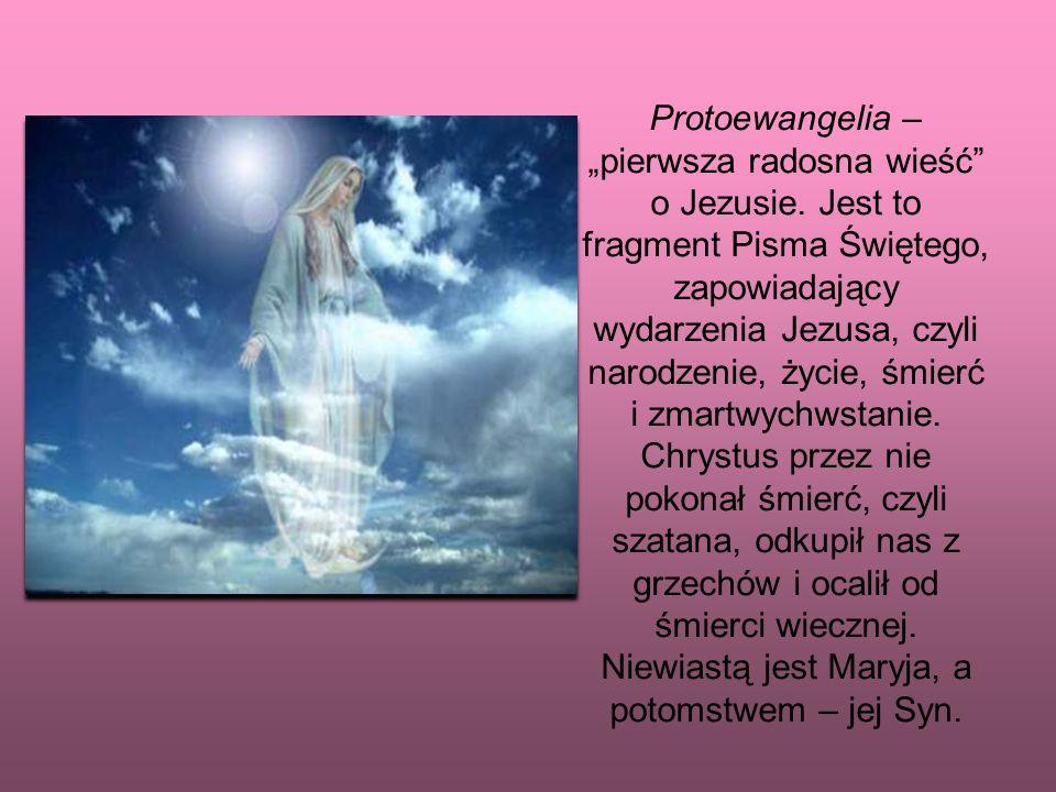 Protoewangelia – pierwsza radosna wieść o Jezusie.