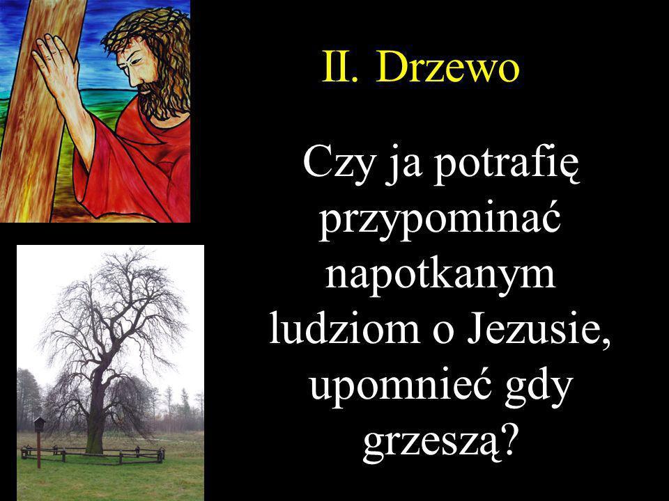 II. Drzewo Czy ja potrafię przypominać napotkanym ludziom o Jezusie, upomnieć gdy grzeszą?