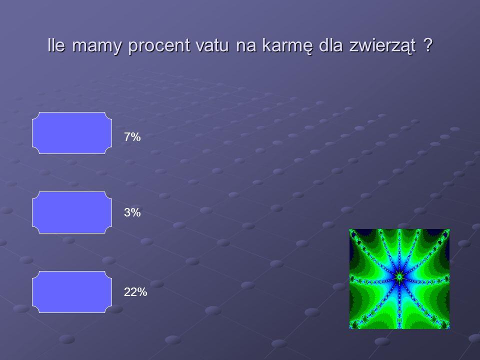 Ile mamy procent vatu na sprzęt RTV i AGD ? 7% 3% 22% Koniec Dobrze