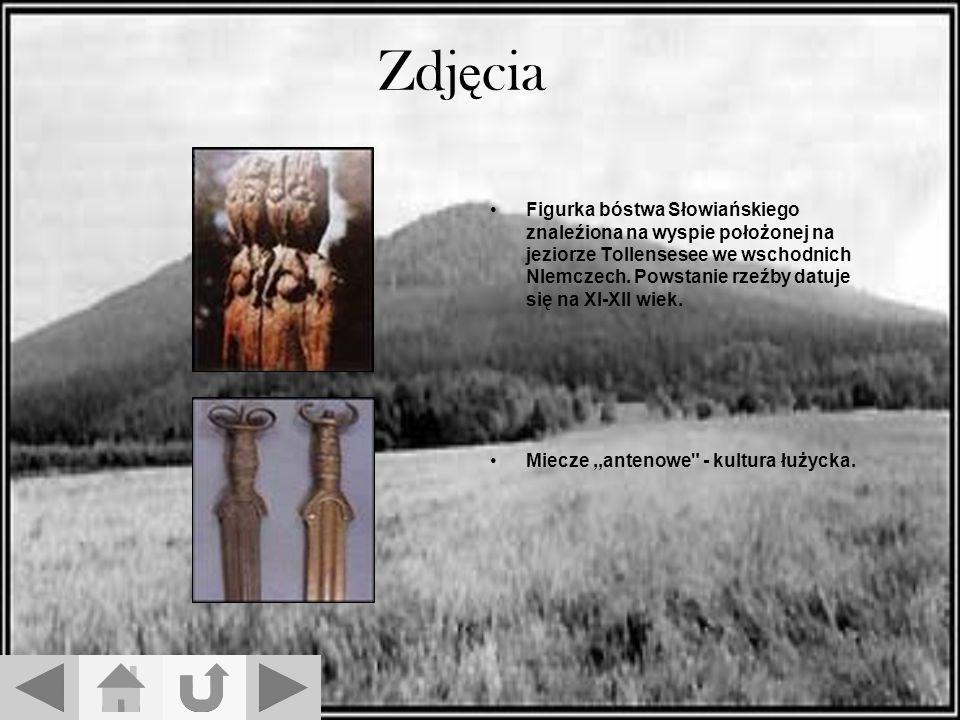 Zdj ę cia Figurka bóstwa Słowiańskiego znaleźiona na wyspie położonej na jeziorze Tollensesee we wschodnich NIemczech.