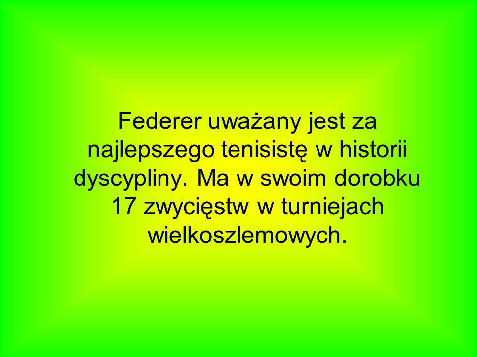 Roger Federer (ur. 8 sierpnia 1981 w Bazylei) – szwajcarski tenisista, najwyżej sklasyfikowany szwajcarski tenisista, zajmujący obecnie 3. miejsce w r