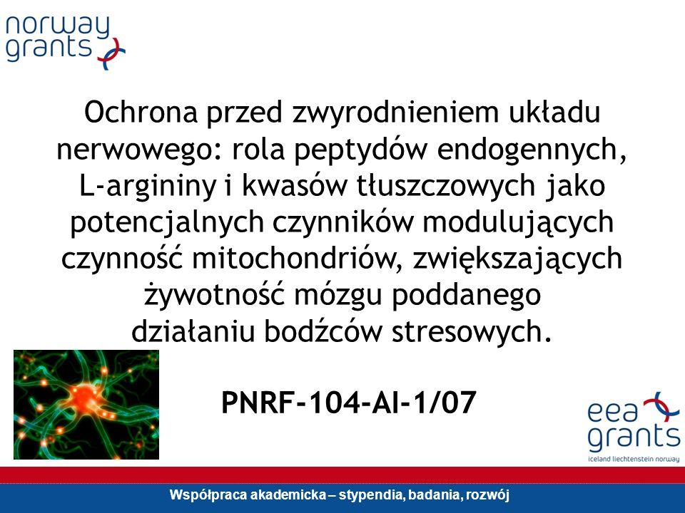 Współpraca akademicka – stypendia, badania, rozwój Ochrona przed zwyrodnieniem układu nerwowego: rola peptydów endogennych, L-argininy i kwasów tłuszc
